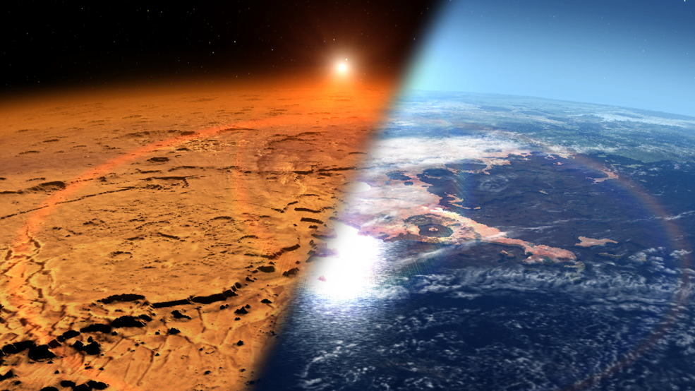 Mars was once an ocean-covered planet with a thick atmosphere like Earth's - Jamie Bonetti Zeller