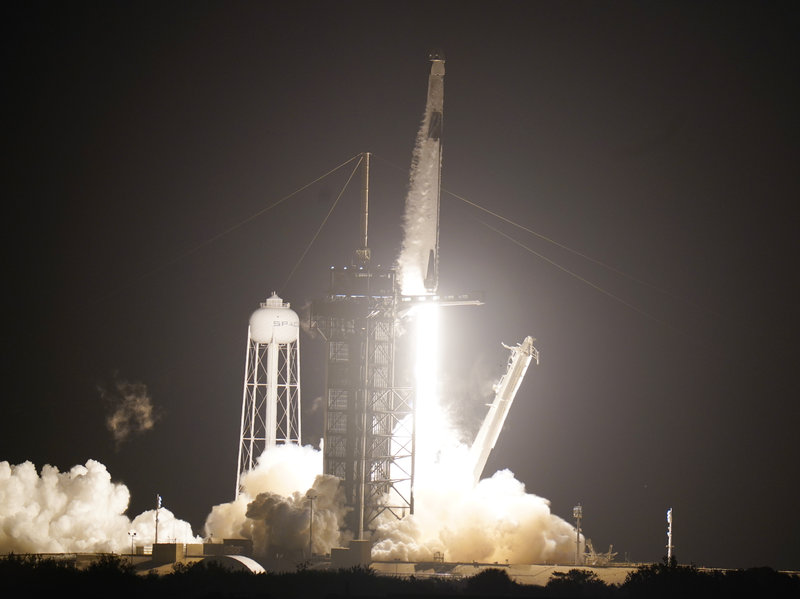 Liftoff! Astronauts Head To Space Station On SpaceX Rocket - Jaime Bonetti Zeller
